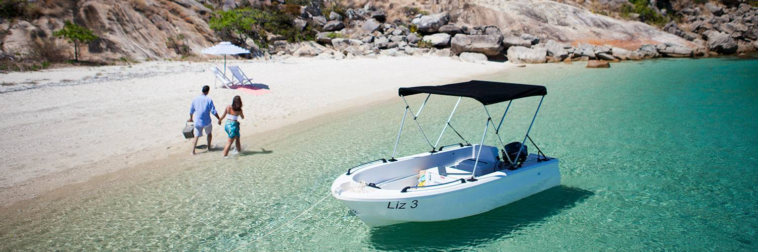 Guest can rent Motorized Dinghies on Lizard Island